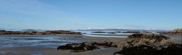 Skye from the beach near Arisaig