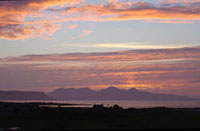 Eigg and Rum from Ach na skia Croft